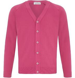 MENS PLAIN CLASSIC PINK CARDIGAN JUMPER FITTED BUTTON UP VNECK ...