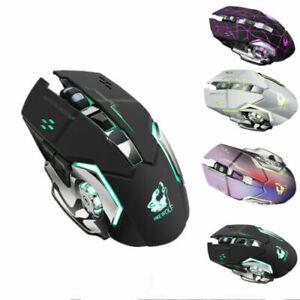 USB Gaming Maus PC Kabellose Computer Laptop Notebook LED Funkmaus für Pro Gamer
