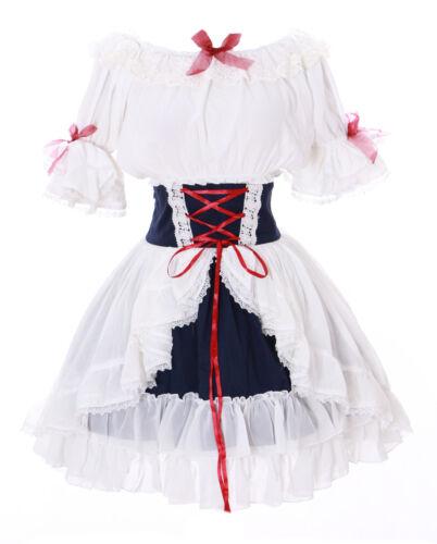 Volant jupe Jl en blanche soie gothique de et Robe Chemisier mousseline 642 lolita victorienne 1zqnxrw1t