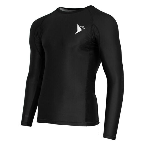 Vali Mens Sencial Rash Guard Compression Shirt Long Sleeve For MMA BJJ Surfing
