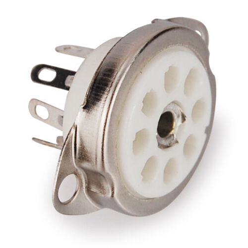 Rimlock Röhrensockel Röhren Sockel zum Einbau 8 Pin Lötfahne