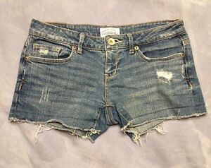 Aeropostale-Women-039-s-Distressed-Destroyed-Booty-Short-Shorts-Size-1-2