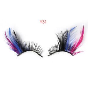 7e26ed23076 Women Fancy Soft Long Feather False Eyelashes Eye Lashes Makeup Party Club