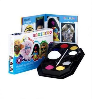 Neu Snazaroo Fest & Karneval Gesicht Schminke Set 8 Spalten Sponge Pinsel 50 Re