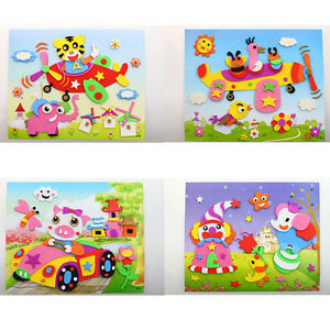 1Pcs 3D DIY EVA Crafts Foam Puzzle Stickers Toy Art Gift for Kids 21cm*26cm New Crafts