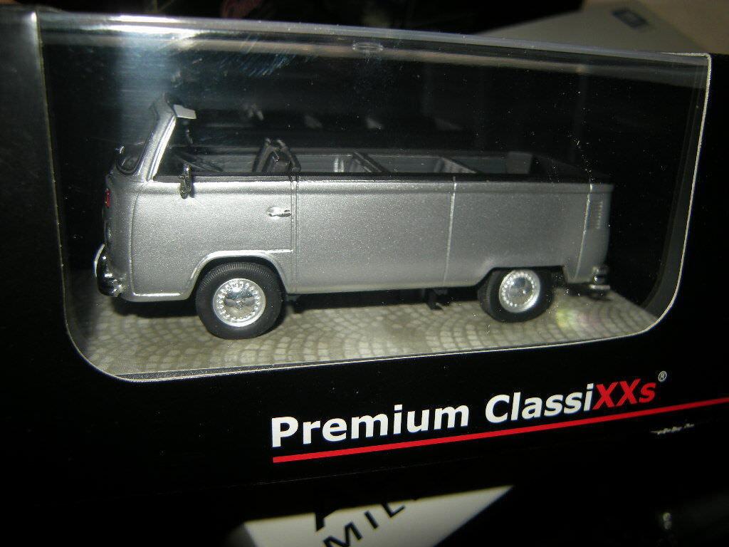 1 43 Premium ClassiXXs VW T2b Open Air Bus silber Nr. 18401 Limited Edition OVP  | Authentische Garantie