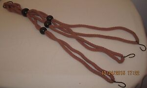 20-034-Long-Nylon-Three-Strand-with-Large-Wooden-Beads-Plant-Hanger-with-Hooks