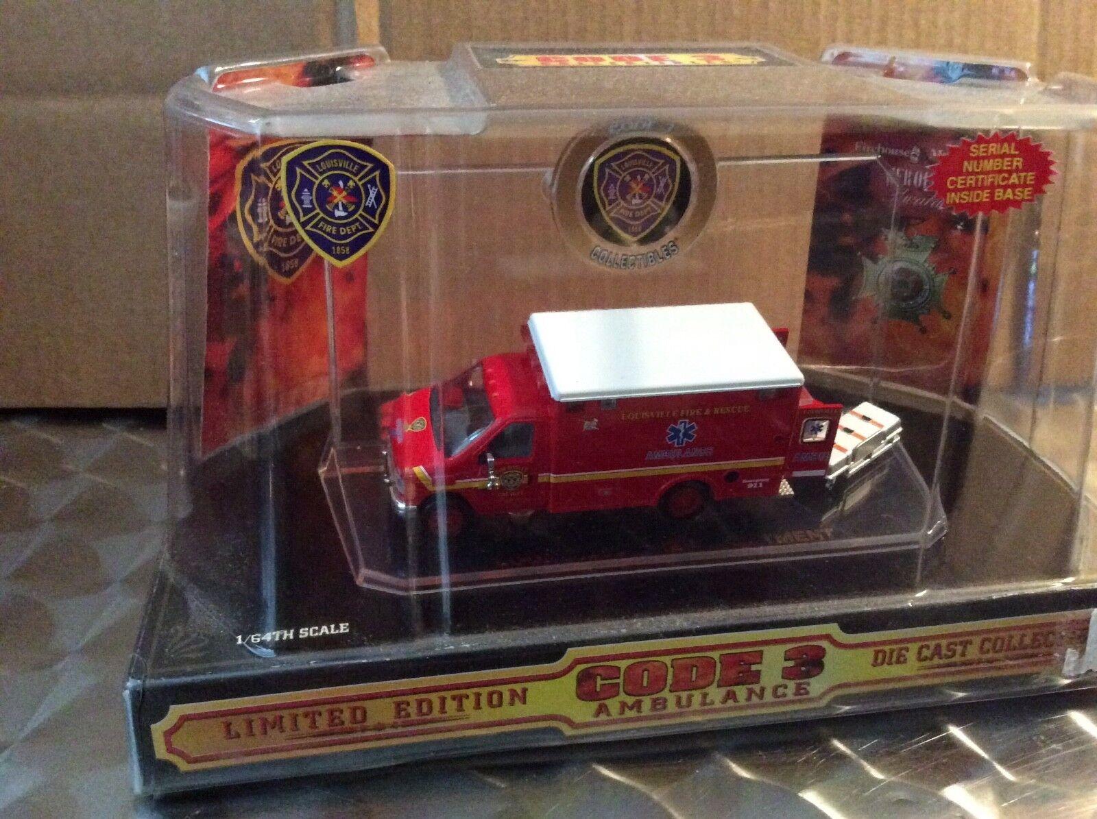 Louisville  Fire Dept. Ford E350 92- 97 RESCUE Code 3 2003 van 12054 ambulance