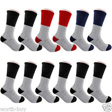 New Lot 12 Pairs Mens Heavy Duty Thermal Winter Warm Tube Socks Fits Size 9-15