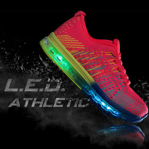 Details About Us Cali Women Led Light Up Air Cushioned Sneakers Running Athletic Tennis Shoes