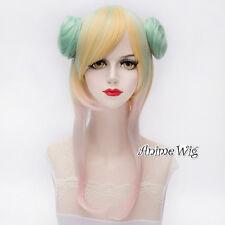 Lolita Style Bun Design Multi-Coloured Fashion Cosplay Party Full Wig Harajuku