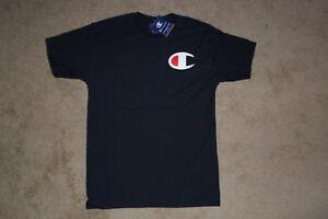 Champion-Mens-Dark-Navy-Blue-Big-C-Logo-Graphic-Short-Sleeve-Tee-Shirt-Sz-XXL