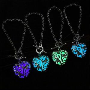 Glow in the dark womens heart of the ocean pendant bracelet chains image is loading glow in the dark women 039 s heart aloadofball Image collections