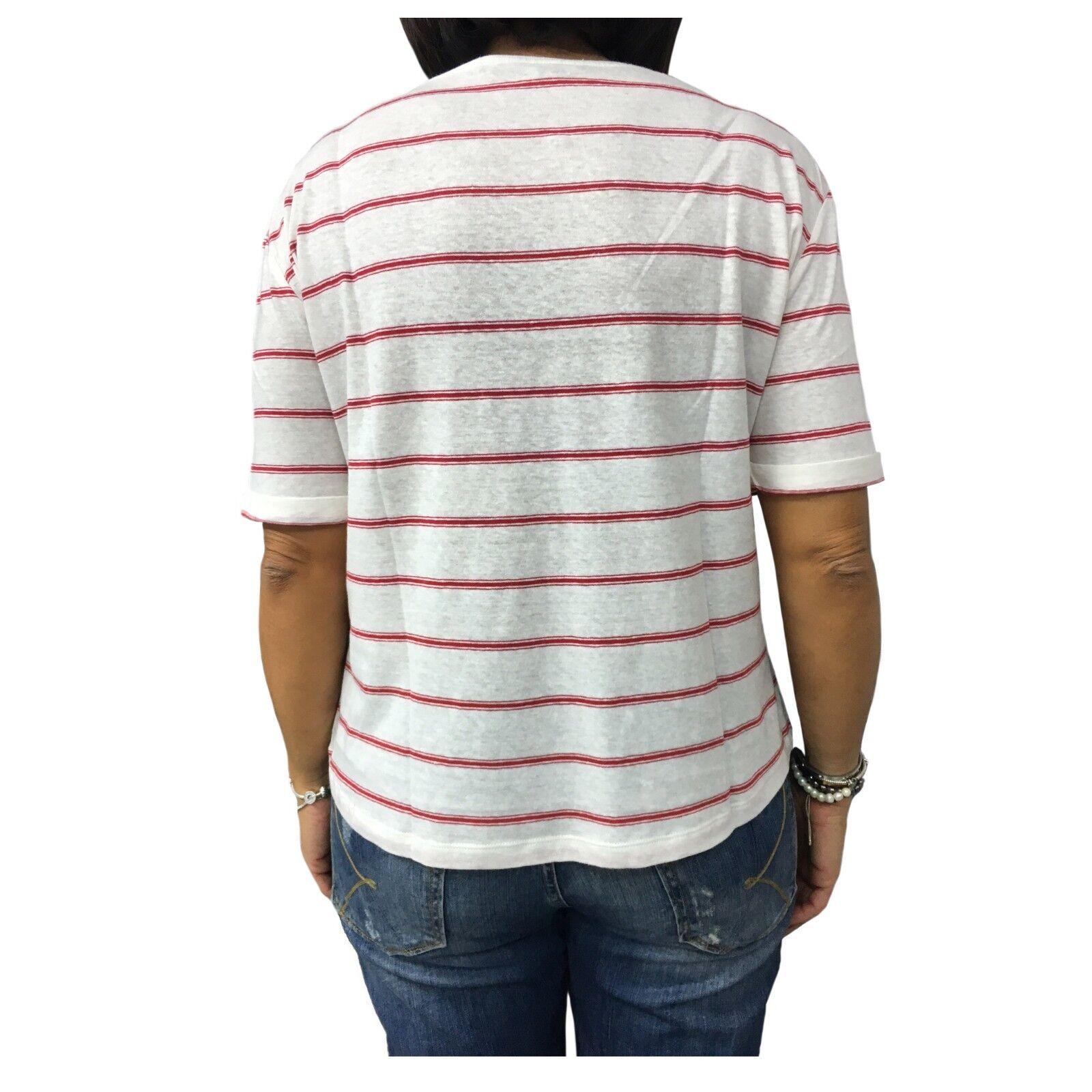 LA FEE MARABOUTEE T-Shirt Streifen weiß     rot 75% Leinen 25% Baumwolle FA7324 | Verschiedene Waren  | Ausgezeichnete Leistung  | Online  a01718