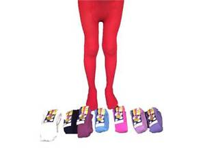 30f708595 Thermal Tights Girls Kid Children Green Red White Navy Blue Pink 2 ...