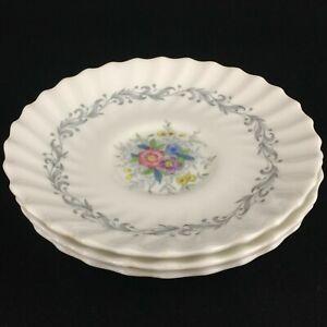 Set-of-3-VTG-Saucer-Plates-by-Royal-Doulton-Windermere-Floral-4856-England