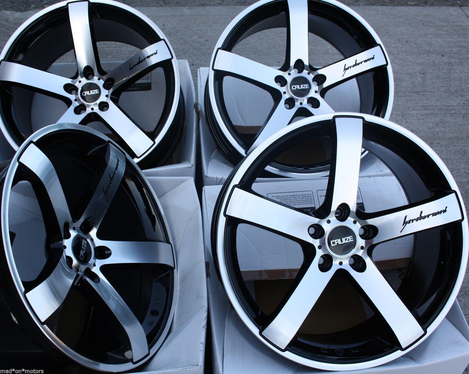 Alufelgen 19   black M Cruize Blatt für Mercedes C E Klasse CLK CLS Sl SLK