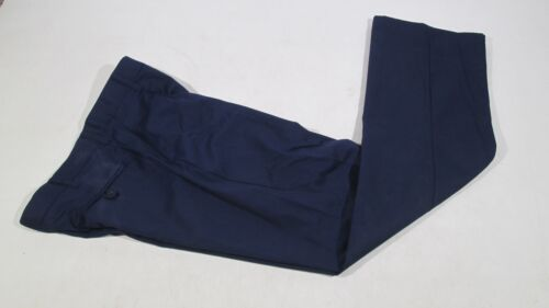 Ex Police Blue Polyester /& Cotton Trousers With Hook /& Eye Fastening
