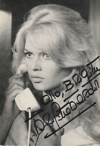 Autographe-Original-BRIGITTE-BARDOT-Vintage