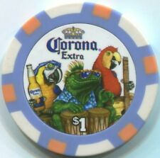 4 pc 4 colors 11.5 gm CORONA BEER poker chip samples #205