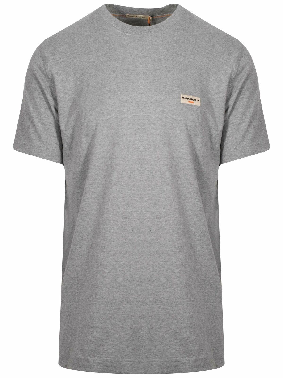f405212c Nudie Grey Melange Logo T-Shirt Jeans Daniel pdtfdm30374-T-Shirts ...
