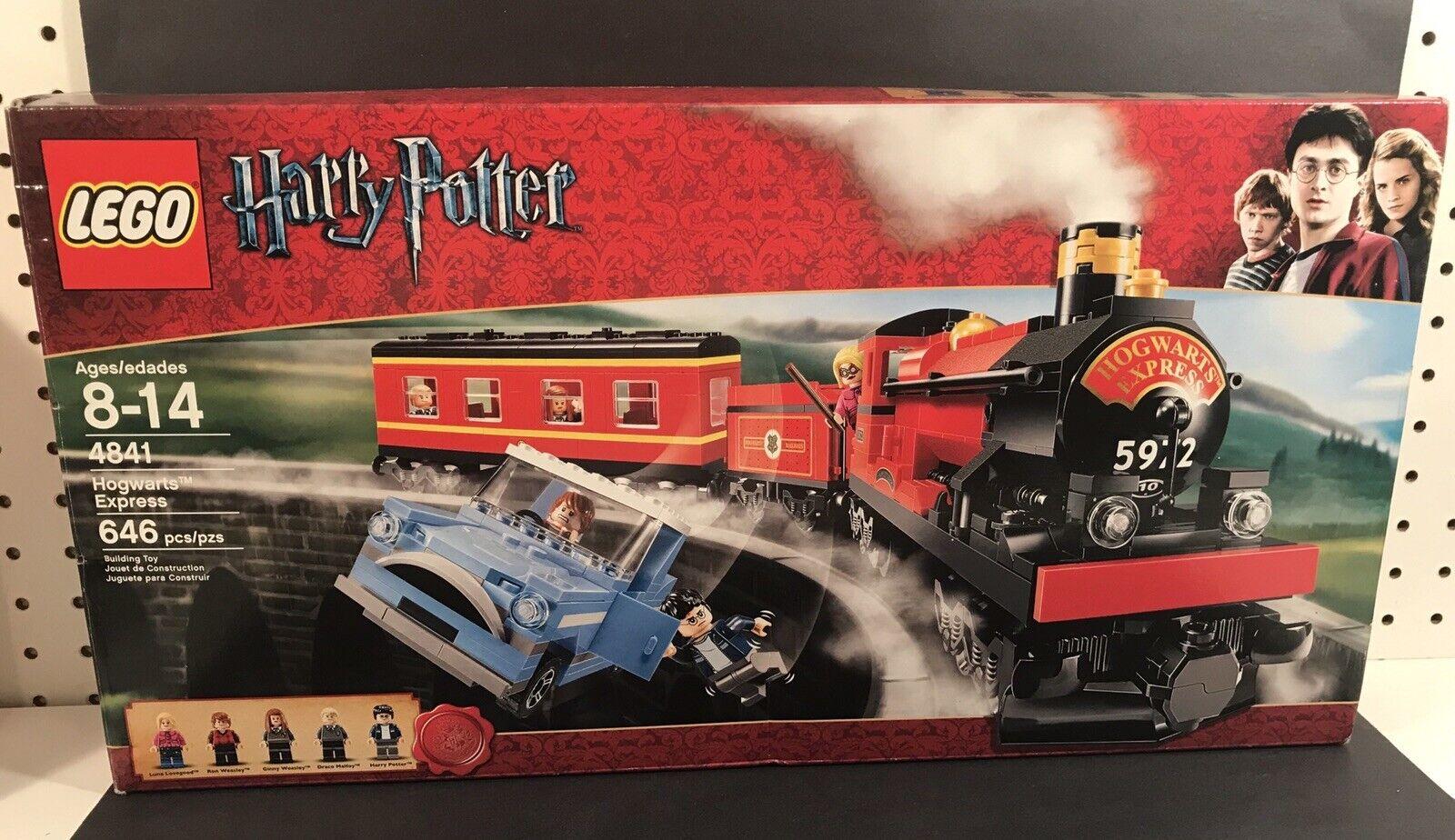 2010 LEGO HARRY POTTER HOGWARTS EXPRESS LEGO  SET 4841 WITH scatola VERY RARE RETIrosso  nelle promozioni dello stadio