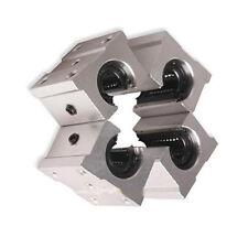4 Pcs SBR20UU 20mm Aluminum Open Linear Router Motion Bearing Solide Shaft Block