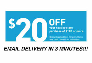 TWO 2x Lowes $20 OFF $100Coupons-IN