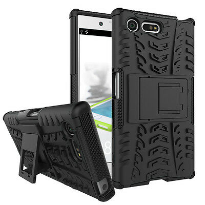 Shockproof Armor Hybrid Rugged Layer Kickstand Case for Sony Xperia X Compact