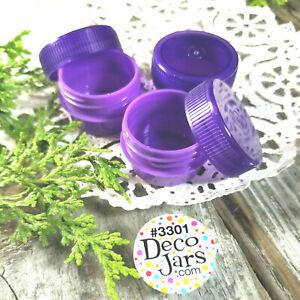 50-TINY-1-4oz-Pretty-Purple-Jars-amp-Cap-Lid-Top-Container-1tsp-New-3301-DecoJars