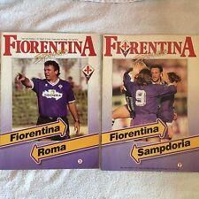 PROGRAMMI CALCIO FIORENTINA - ROMA E FIORENTINA - SAMPDORIA CAMPIONATO 1991/92