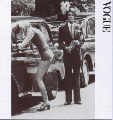 """VOGUE vintage /""""ville rayures/"""" CHESTER BARRIE oct 1974 Fashion Birthday//Greeting"""