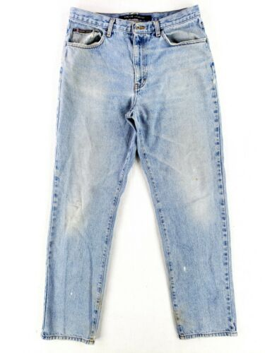 VINTAGE DKNY 34x34 Blue Jeans Classic Distressed F