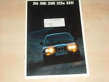 62978) BMW 3er Reihe E30 Prospekt 01/1987