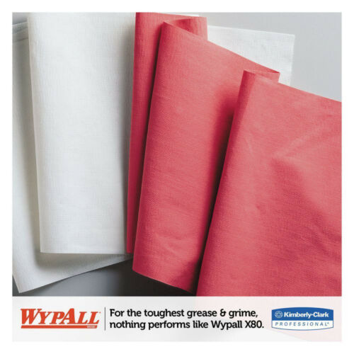 KIMBERLY CLARK WYPALL X80 WIPERS SHOP TOWELS CLEANING RAGS 41055 RED JUMBO ROLL