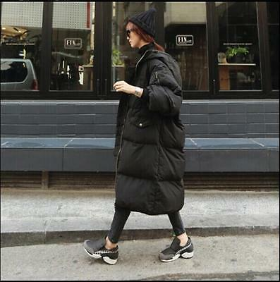 Womens Overcoat Outwear Winter Parka Hood Loose Oversize Casual Long Down Coats