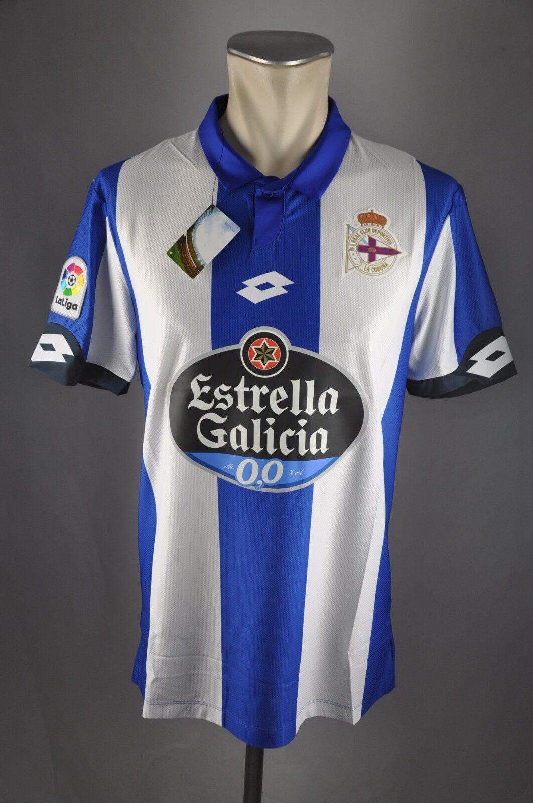 Deportivo La Coruna Trikot Gr. S M L XL XXL Lotto Estrella Galicia 2016-17 Home