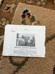 Q1c-Ephemera-Old-Undated-Advert-Royal-Castle-Hotel-Lynton-Russell