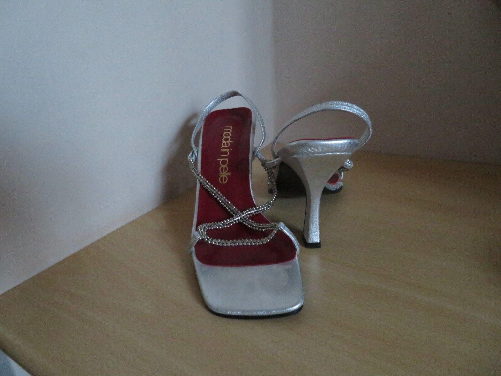 Moda jest prosta i niedroga Moda In Pelle Silver Sandal Size 36