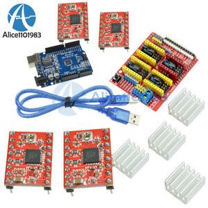 CNC-Shield-V3-0-UNO-R3-Board-A4988-Driver-Heatsink-Kits-CNC-Kit