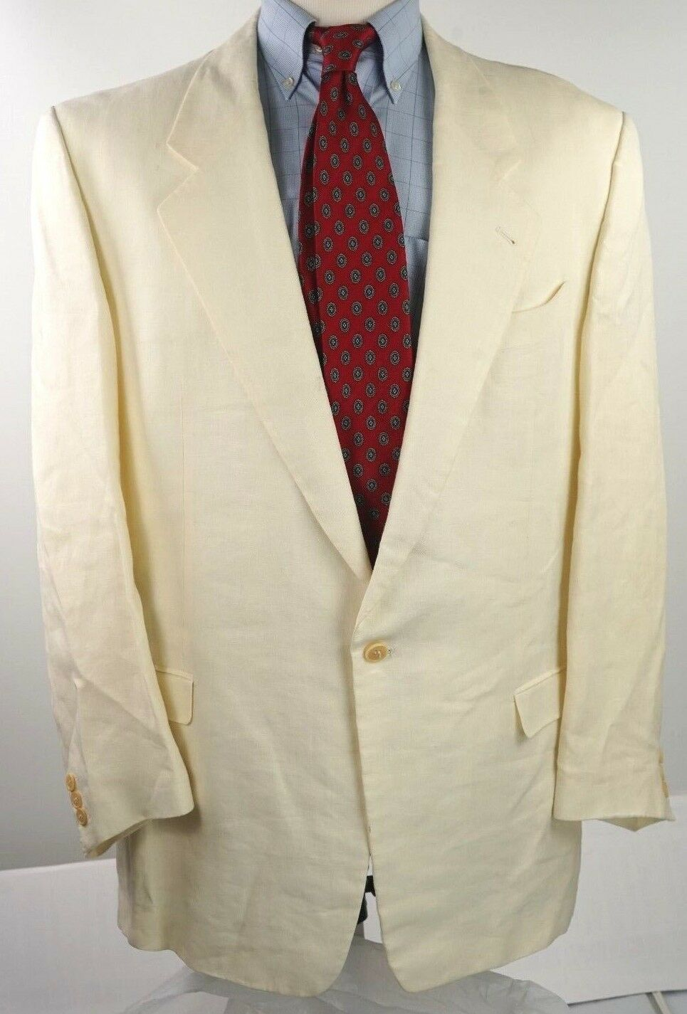Pal Zileri   Herren Cream Linen Summer Sport Coat Blazer Größe EU 52 US 42R