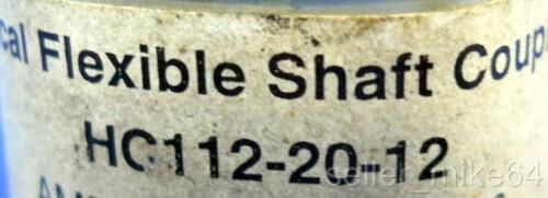 "1.128/"" OD FLEXIBLE SHAFT COUPLING Details about  /HELICAN HC112-20-12 NIB *PZF* 1.500/"" OAL"