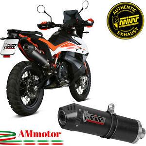 Mivv Ktm 890 Adventure / R 2020 Terminale Di Scarico Moto Oval Carbonio Cap
