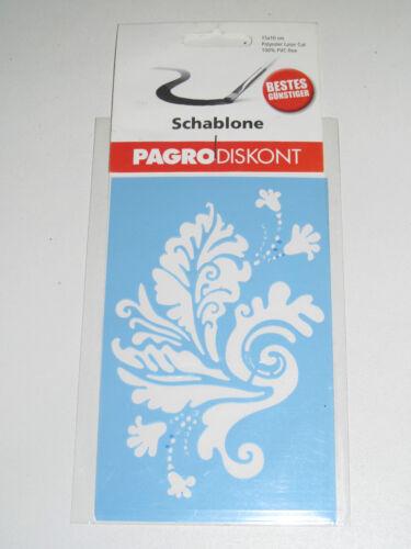 Pochoir a peindre en PVC Souple Ornement A 15*9 cm NEUF