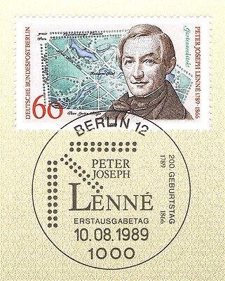 Berlin 1989: Peter Joseph Lenné Nr. 850 Mit Sauberem Ersttags-sonderstempel! 1a! HeißEr Verkauf 50-70% Rabatt