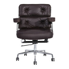Eams Office Chair Executive Chair Ergonomic Real Leather Computer Desk Task Seat