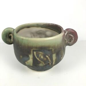 Mid Century Vintage California Studio Ceramic Pottery Planter Cup Vessel Signed