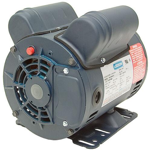 "5 HP COMPRESSOR MOTOR 230 VOLTS 3450 RPM 5//8/"" SHAFT SPECIAL DUTY LEESON  10-2530"