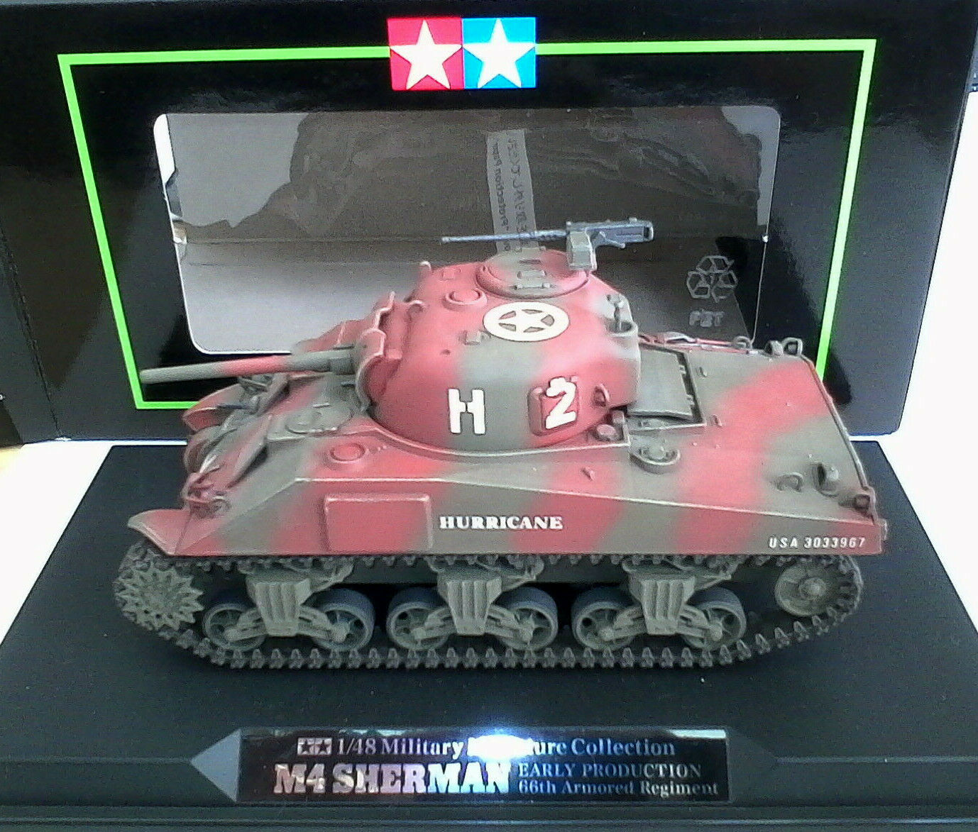 Tamiya Military Miniatures Collection 1 48 m4 Sherman Early Production Art 26506
