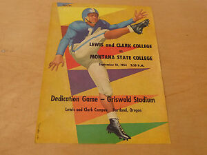 1953 LEWIS AND CLARK 1ST GAME AT GRISWOLD STADIUM COLLEGE ...